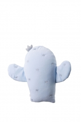 Samt Kuschelkissen Kaktus hellblau