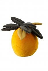 Samt Kuschelkissen Ananas senfgelb