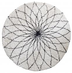 Teppich Flower Power schwarz-weiß