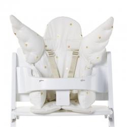 Childhome Sitzpolster Hochstuhl Engel weiß goldene Punkte