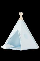 Tipi inkl. Spielmatte / Kissen hellblau