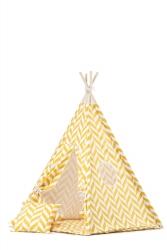Tipi inkl. Spielmatte / Kissen Herringbone gelb
