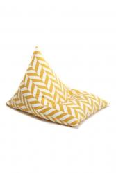 Sitzsack gelb Herringbone