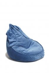 Sitzsack blau Hase