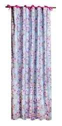 My Julius Vorhänge Blumen blau-rosa