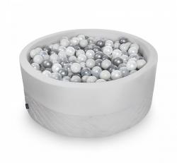 Rundes Bällebad grau inkl. 200 Bälle