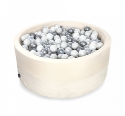 Rundes Bällebad creme inkl. 200 Bälle