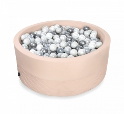 Rundes Bällebad puderrosa inkl. 200 Bälle