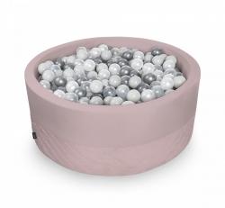 Rundes Bällebad rosa inkl. 200 Bälle
