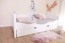 Kinderbett 120x200 cm weiß Kristallserie 2