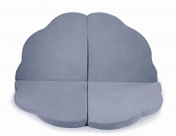 klappbare Spielmatratze Wolke grau-blau