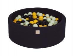 Rundes Bällebad schwarz inkl. 200 Bälle
