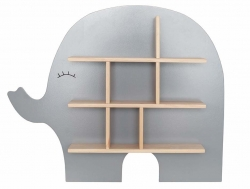 Wandregal Elefant grau