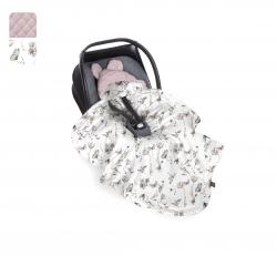 Uni Babydecke/Fußsack rosa Nature