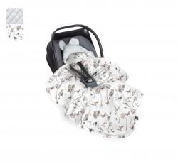 Uni Babydecke/Fußsack grau Nature