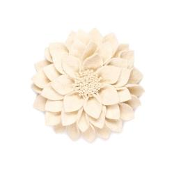 Filz Wanddeko Kuba Blume cremeweiß
