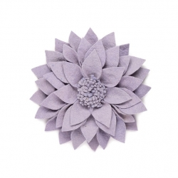 Filz Wanddeko Kuba Blume lila