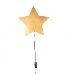 Wandlampe Barbe Stern gold