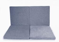 klappbare Spielmatratze Quadrat grau-blau