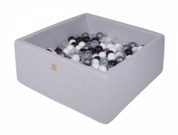 Bällebad grau Quadrat inkl. 200 Bälle