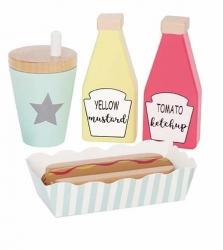 Holz Hot Dog Set