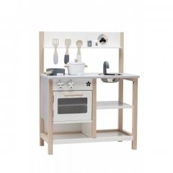 Holz Spielküche weiß-grau