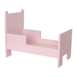 Jabadabado Puppenbett Holz rosa