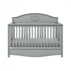 Bellamy Babybett grau 70x140 inkl. Schublade und Rausfallschutz