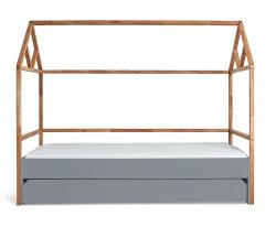 Hausbett Lotta 90x200cm natur-grau inkl. Schublade