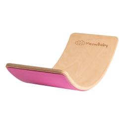 Balance Board Holz mit Filz rosa