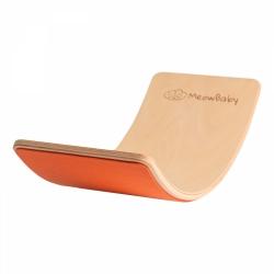 Balance Board Holz mit Filz orange