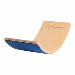 Balance Board Holz mit Filz blau