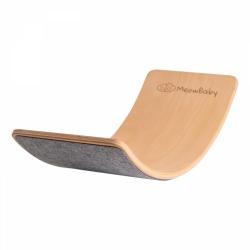 Balance Board Holz mit Filz grau