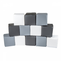 Soft Bausteine Zebra grau-weiß-schwarz 12-er Set