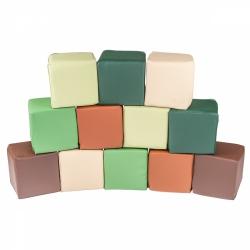 Soft Bausteine Moro grün-beige-braun 12-er Set