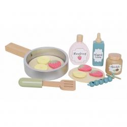 Holz Pfannkuchen Pancakes Set