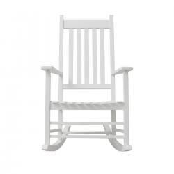 Schaukelstuhl / Stillstuhl Holz weiß
