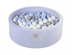 Bällebad Velvet hellblau rund inkl. 200 Bälle