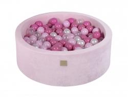 Bällebad Velvet rosa rund inkl. 200 Bälle