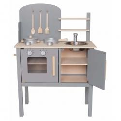 Jabadabado Holz Spielküche grau