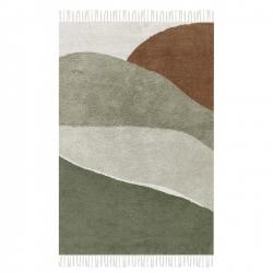 Little Dutch Teppich Horizon olivgrün-braun