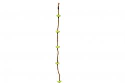 Kletterseil mit Fußtritten grün