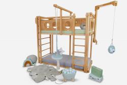 Spielbett mit Schaukel