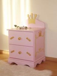 Nachttisch Prinzessin rosa