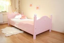 Prinzessin Bett rosa-weiß