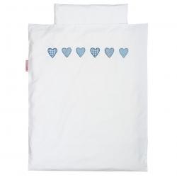 Baby Bettwäsche Herzen blau
