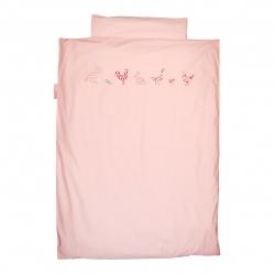 Baby Bettwäsche Bauernhoftiere rosa