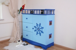 Kommode Pirat blau XL
