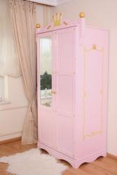 Kleiderschrank Prinzessin rosa 2 türig