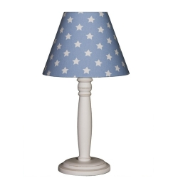 Nachttischlampe Sterne blau